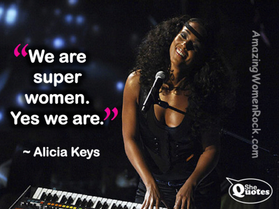 Alicia Keys superwomen
