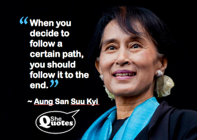 Aung San follow the path