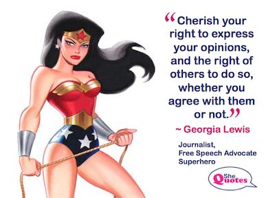 Georgia Lewis right to opinion