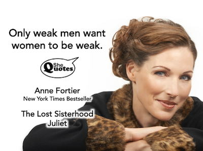 Anne Fortier weak men