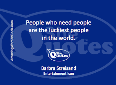Barbra Streisand lucky people