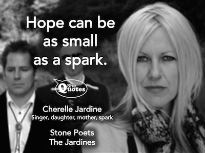 Cherelle Jardine Hope is a spark