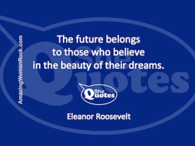 Eleanor Roosevelt the future belongs