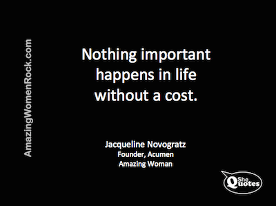 Jacqueline Novogratz cost