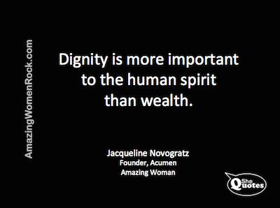 Jacqueline Novogratz dignity