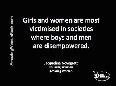 Jacqueline Novogratz women victims