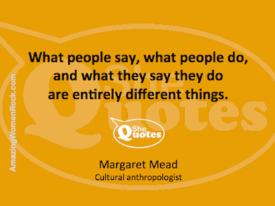 Margaret Mead what people say and do