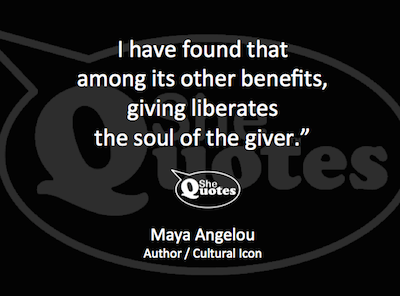 Maya Angelou giving liberates