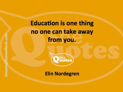Elin Nordegren education
