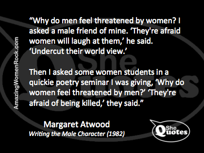 Margaret Atwood afraid of being killed