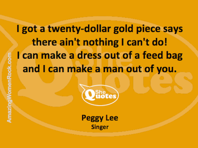 Peggy Lee man out of you