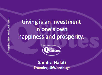 Sandra Galati giving is investment