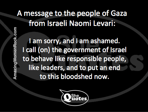 Naomi Levari sorry