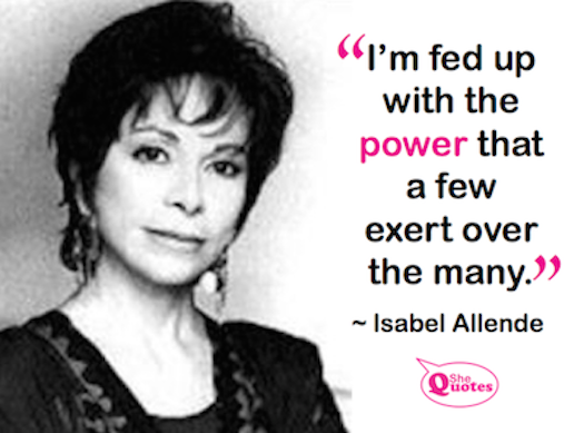 Isabel Allende fed up