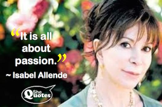 Isabel Allende passion