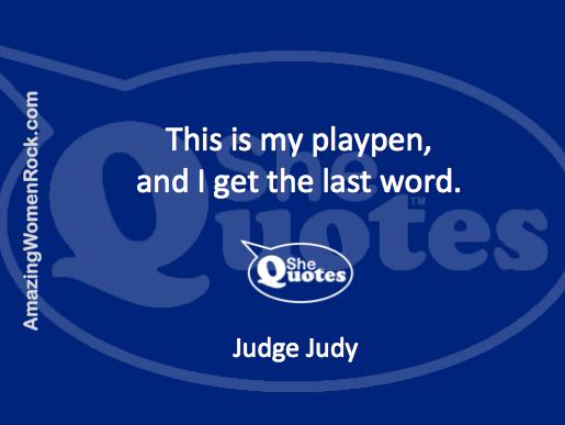 Judge Judy on power
