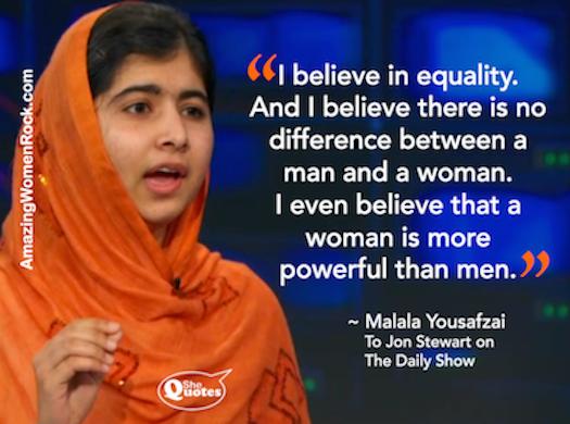 Malala Yousafzai Jon Stewart
