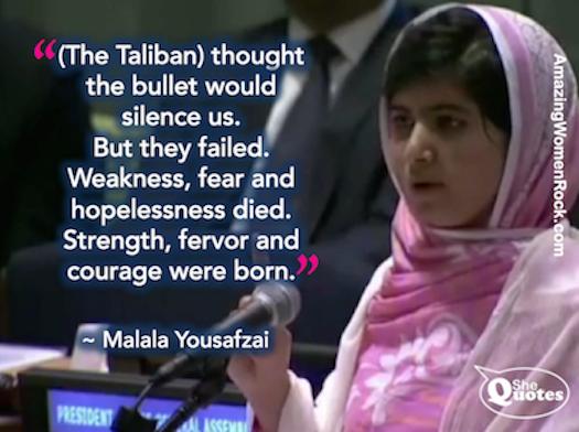 Malala courage was born