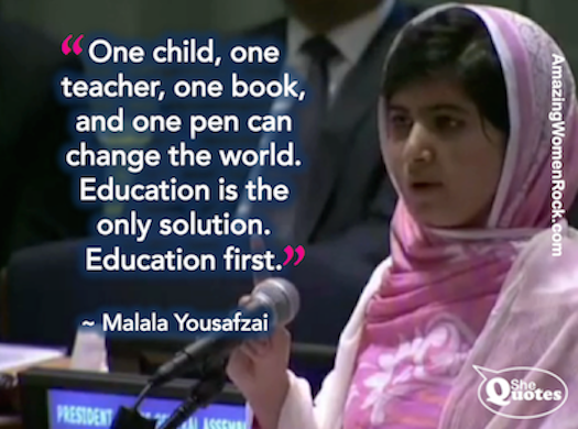 I Am Malala Quotes Classy Shequotes   Shequotes Malala On Education Quotes Education