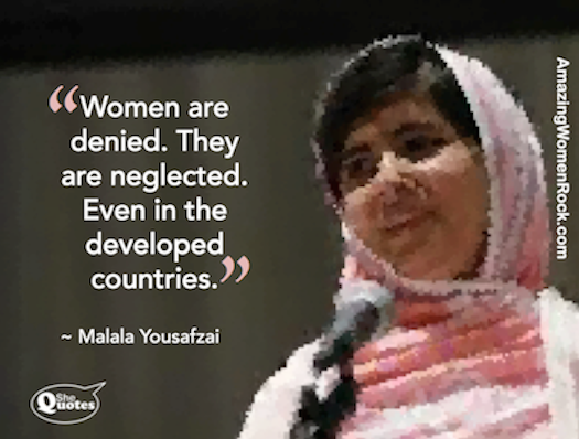 SheQuotes SheQuotes Malala On Women Quotes Women Rights Custom Women's Rights Quotes