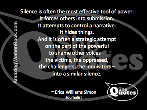 Erica Williams Simon on silence