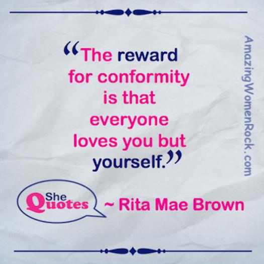 Rita Mae Brown conformity