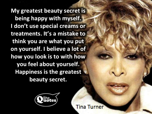 Tina Turner's beauty secret