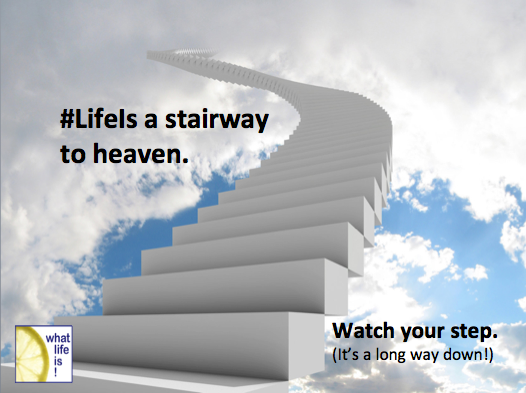 A Long Way Down Quotes: Going Up? Take One Step At A Time! #SheQuotes