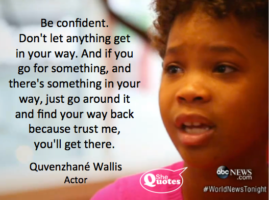 Quvenzhane Wallis' message for girls