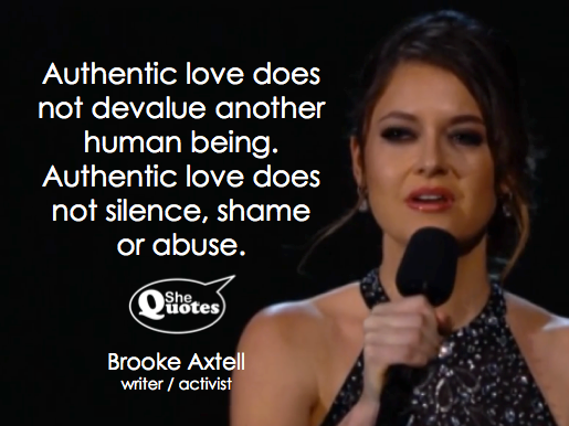 Brooke Axtell shares authentic love