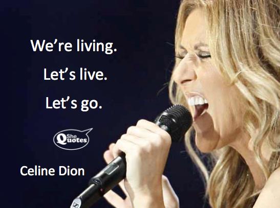 Celine Dion let's live