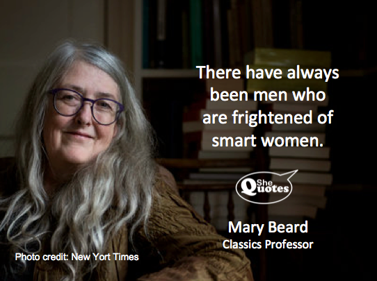 Mary Beard is a smart woman