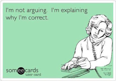 Other I'm not arguing