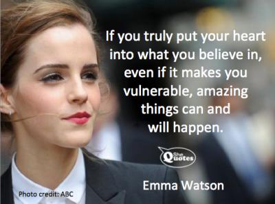 Emma Watson amazing things will happen