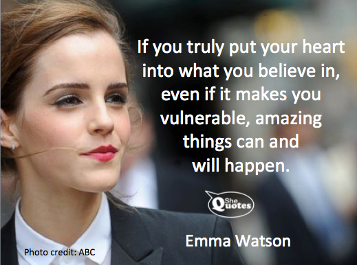 Shequotes Emma Watson Believes In Amazing Things Shequotes Quote