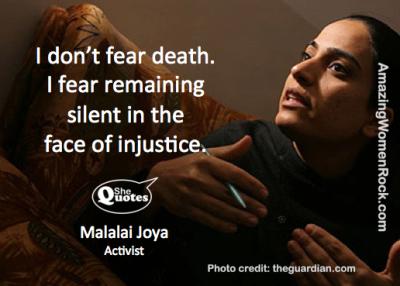 Malalai Joya doesn't fear death