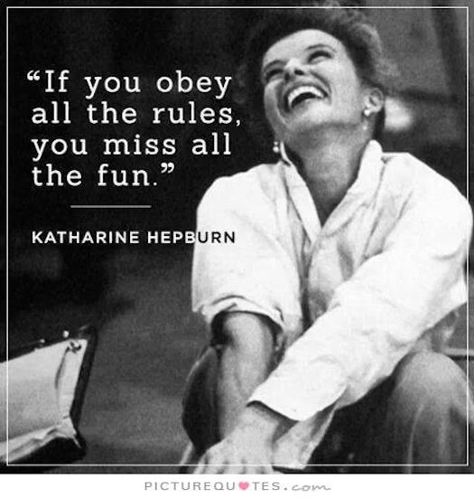 Katharine Hepburn had fun