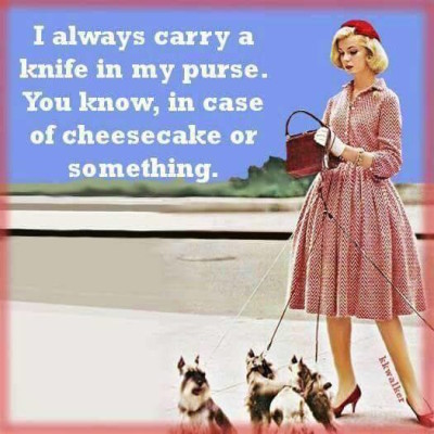 Others carry a knife in your purse