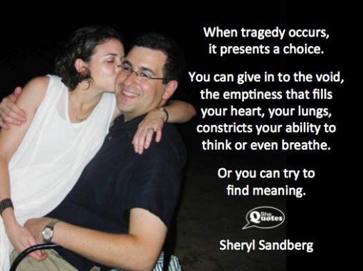 Sheryl Sandberg finds meaning