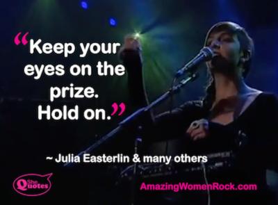 Julia Easterlin hold on