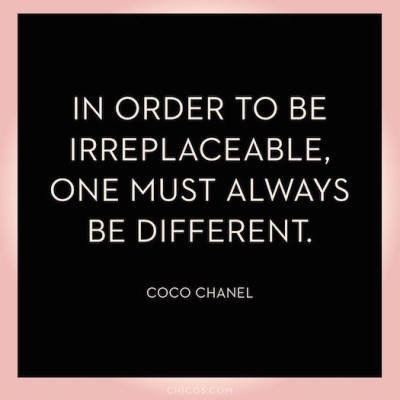 Coco Chanel be different