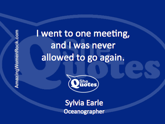Sylvia Earle went to one meeting