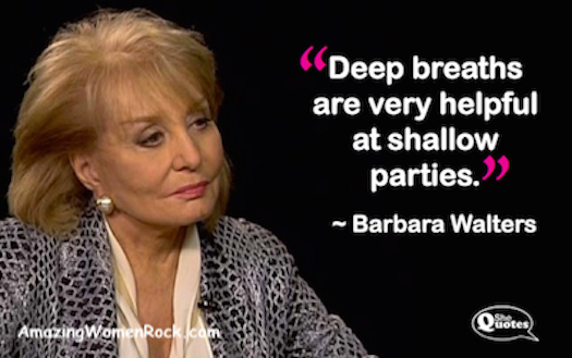 Barbara Walters deep breaths SQ