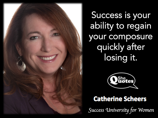 Catherine Scheers composure