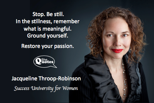 Jacqueline Throop-Robinson restore your passion
