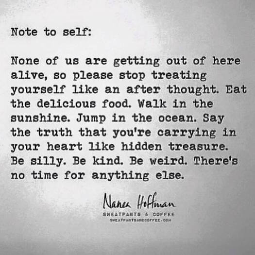 She Quotes | Shequotes None Of Us Gets Out Of Here Alive Nanee Hoffman