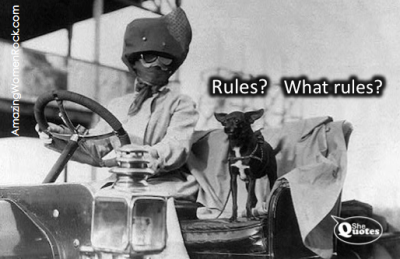 #SheQuotes rules, what rules?