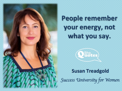 Susan Treadgold energy