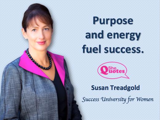 Susan Treadgold fuel success