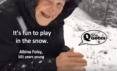 Albina Foisy it's fun to play in the snow